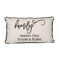 Canvas Pillow-Family Makes This House a Home - Occasionally Made - Farmhouse Decor