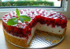 Jogurtowiec z malinami (bez pieczenia) - DoradcaSmaku.pl Meatloaf, Sweets, Cooking, Fruit Cakes, Food, Polish, Life, Cookie, Pies