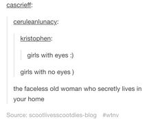 Welcome to Night Vale The Faceless Old Woman Who Secretely Lives In Your Home Tumblr ost