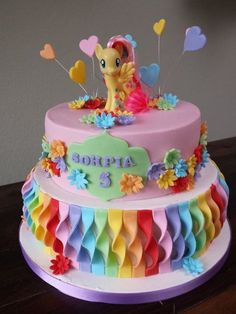 My Little Pony cake for the young and the young at heart Pretty Cakes, Cute Cakes, Bolo My Little Pony, Bolo Cake, Girly Cakes, Novelty Cakes, Occasion Cakes, Creative Cakes, Celebration Cakes