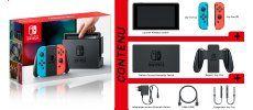 Contenu de la boite Nintendo Switch