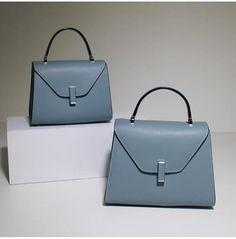 Women's Fashion Light Blue Leather Handbag Shoulder Bag Cross Body Bag Satchel Purse MY02