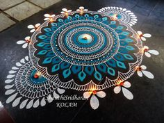 Discover the most beautiful collection of rangoli designs for Diwali. Explore unique and colorful rangoli design ideas and images for the upcoming festival. Indian Rangoli Designs, Simple Rangoli Designs Images, Rangoli Designs Latest, Rangoli Border Designs, Small Rangoli Design, Rangoli Patterns, Colorful Rangoli Designs, Rangoli Ideas, Beautiful Rangoli Designs