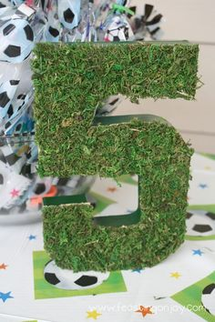Soccer Themed Birthday Party Decoration