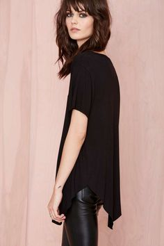 Nasty Gal Playing Favorites Tee - Black - Tees | Basics | Tops | Fall Of The Wild | Tops | All