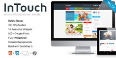 InTouch - Retina Responsive WordPress News Theme  #wordpress #theme #retina