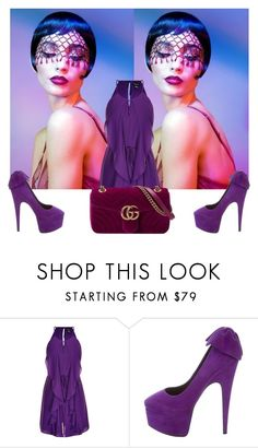 """""""Gg"""" by nikol-139 ❤ liked on Polyvore featuring City Chic, Giuseppe Zanotti and Gucci"""