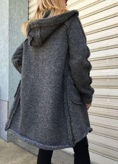 07708b77eb58 Grey Loose Winter Cardigan   Hooded Jacket   Women Wool Vest   EXPRESS  SHIPPING   MD 1300. Shirt BluserJakker Til KvinderOveralls