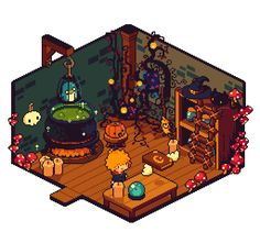 Discover recipes, home ideas, style inspiration and other ideas to try. Art Isométrique, Pix Art, Isometric Art, Isometric Design, Pretty Art, Cute Art, Pokemon, 2d Game Art, Pixel Art Games