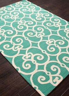 Fabulous teal-aqua and ivory colors combine with modern style to add a sense of seaside enchantment!
