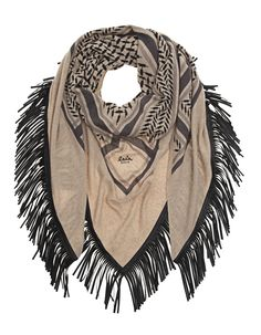 6425035c12e LALA BERLIN Triangle Trinity Special Fringed Scarf Cashmere scarf with  leather fringes - New Arrivals