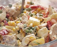 Chicken salad ღ Cookbook Recipes, Cooking Recipes, Food Network Recipes, Food Processor Recipes, The Kitchen Food Network, Think Food, Salad Bar, Greek Recipes, Healthy Chicken Recipes