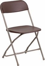 I really like this.  Its brown plastic and brown frame. Unfortunately its their 800 lb capacity chair which probably costs a lot more. Flash Furniture, 11/05/15