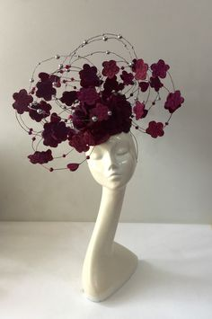 www.eledahats.co.uk Millinery Hats, Fascinator Hats, Fascinators, Headpieces, Fancy Hats, Cool Hats, Flower Hats, Love Hat, Red Hats