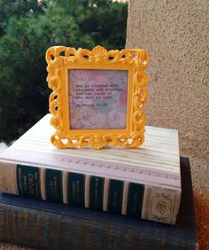 Proverbs 31:25 Quote Made With Typewriter in Vintage-Style Frame on Etsy, $12.00