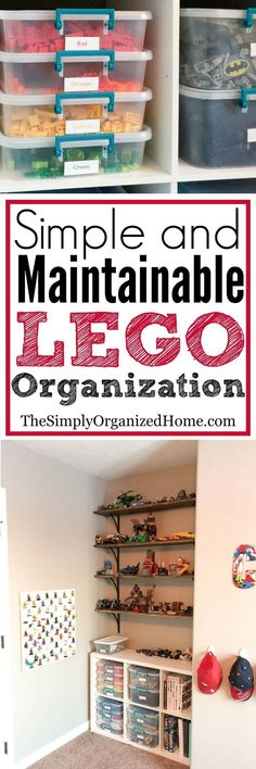 Simple and Maintainable Lego Organization - The Simply Organized Home