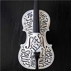 Lettering craft 10 A lettering violine made by... • typostrate