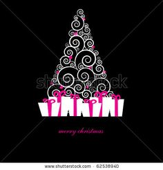 Gift Boxes Under Christmas Tree Stock Vector 62538940 : Shutterstock