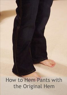 How to Hem Pants with the Original Hem
