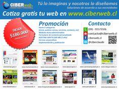 Aprovecha está promoción Web y revisa nuestro portafolio en www.ciberweb.cl
