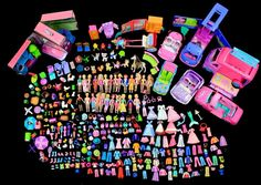 POLLY POCKET 250+ pcs DISNEY PRINCESS DOLLS CLOTHES SHOES PURSES CARS HATS PETS #Mattel #DollswithClothingAccessories