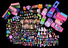 POLLY POCKET 250+ pcs DISNEY PRINCESS DOLLS CLOTHES SHOES PURSES CARS HATS PETS #Mattel #DollswithClothingAccessories
