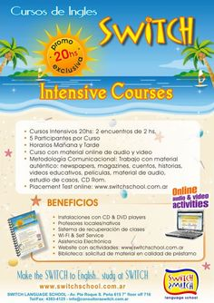 Switch - Cursos Intensivos y de Inmersión Language, Training, Short Stories, Coaching, Speech And Language, Fitness Workouts, Work Outs, Language Arts, Education