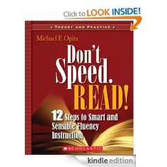 Don't Speed. Read! by Michael F. Opitz is a #QEDebook