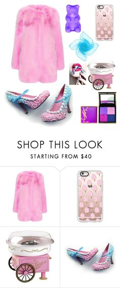 """""""Candy Land"""" by crazy-vintage ❤ liked on Polyvore featuring Gucci, Casetify, Yves Saint Laurent and Nostalgia Electrics"""