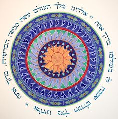 Blessing Mandala paper, tempera, aink, crylic gold