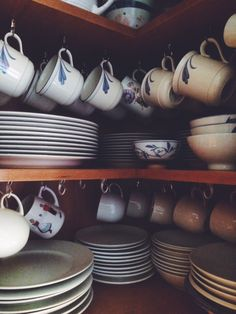 Utilize every inch of your storage space by hanging coffee mugs and leaving more room to organize plates and dishes.