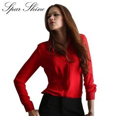 Pin Blusas Femininas 2016 Women Shirt Chiffon Tops Elegant Ladies Formal Office Blouse 5 Colors Work Wear Plus Size XXL to one of your boards if you like it !