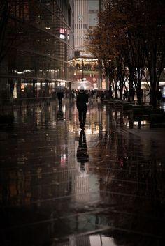 a murky likeness by swiftblue Rain Photography, Street Photography, Landscape Photography, Night Aesthetic, City Aesthetic, Rainy Night, Rainy Days, Rainy Wallpaper, Rainy Street