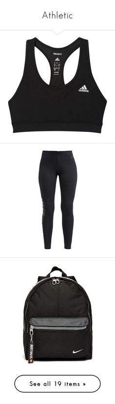 Athletic by chloecrane13 ❤ liked on Polyvore featuring activewear, sports bras, sports bra, bras, tops, adidas, adidas sportswear, adidas sports bra, adidas activewear and pants