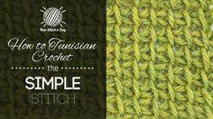 The Tunisian Crochet the Tunisian Simple Stitch