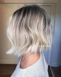 "1,019 Likes, 18 Comments - Grace Zip (@gracezip) on Instagram: ""Iced out Baby Blonde Bob ❄️ #hairbyGraceZip #blondehair #babyblonde #prettyhair #bob #texturedbob…"""