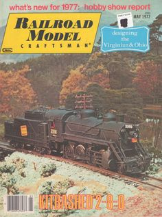 Railroad Model Craftsman May 1977 Old Vintage Magazine Collectible Trains www.grammysbargains.com
