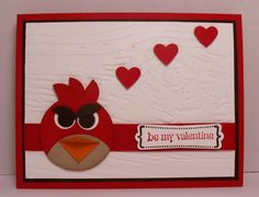 My Valentines version of the Angry Birds card I made for my 4 year old nephew!