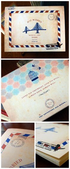 Carte Postale Guest Book, personalized with your details and icon. | Earmark Social
