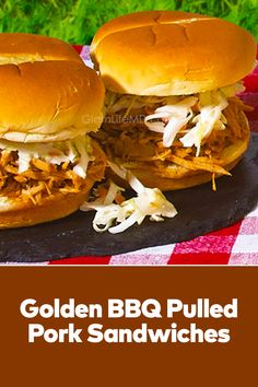 Golden BBQ Pulled Pork Sandwiches Is Tasty and Easy. Use Our Sweet Baby Ray's Hickory & Brown Sugar BBQ Sauce & Enjoy This yummy lunch recipes Dish With Family . Pork Sandwich, Sandwiches, Best Lunch Recipes, Yummy Lunch, Lunches And Dinners, Pulled Pork, Food Dishes, Brown Sugar, Bbq