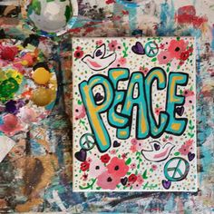 Hey, I found this really awesome Etsy listing at https://www.etsy.com/listing/222570498/colorful-peace-white-dove-flower-sign