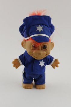 Russ Orange Hair Troll Doll Police Officer by FoundInTheGround, £7.00