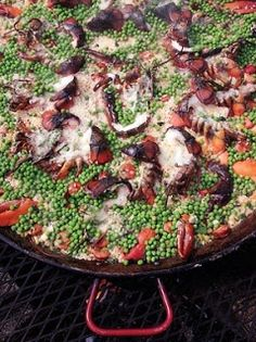 Grilled Lobster Paella ~ Paella is traditionally a Spanish dish and making it with lobster sounds awesome!