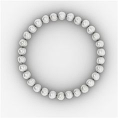 A beautiful and classic white pearl necklace (freshwater A-grade) with a sterling silver ball clasp.