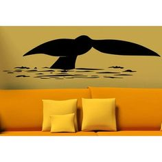 This unique and stylish whale tail is made of high-quality matte finish removable vinyl to create the look of hand-painted art. This vinyl wall decal applies to flat surfaces like walls, glass and til Whale Nursery, Nursery Wall Decor, Finger Painting, Hand Painting Art, Wall Decal Sticker, Vinyl Wall Decals, Whale Tail, Art Studios, Disney