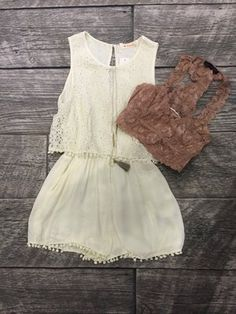 Antique Lace Romper | ella bleu