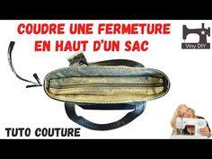 Comment Coudre une Fermeture en haut d'un sac - Tuto Couture DIY - YouTube Blog Couture, Kimono, Bag Tutorials, How To Sew, Tuto Sac, Kimonos