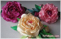 Cantinho craft da Nana: flor de cetim- tutorial