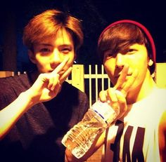 Donghae's Instagram with Sehun 140721