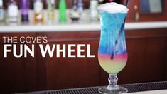 Learn the secrets behind your favorite Disneyland mixed drinks. The Cove's Fun Wheel: --Ice Sweet and sour Fusion liqueur Vodka R. Vodka Drinks, Bar Drinks, Cocktails, Disney Diy, Disney Food, Disney Recipes, Disney Resorts, Disney Parks, Blue Curacao Drinks
